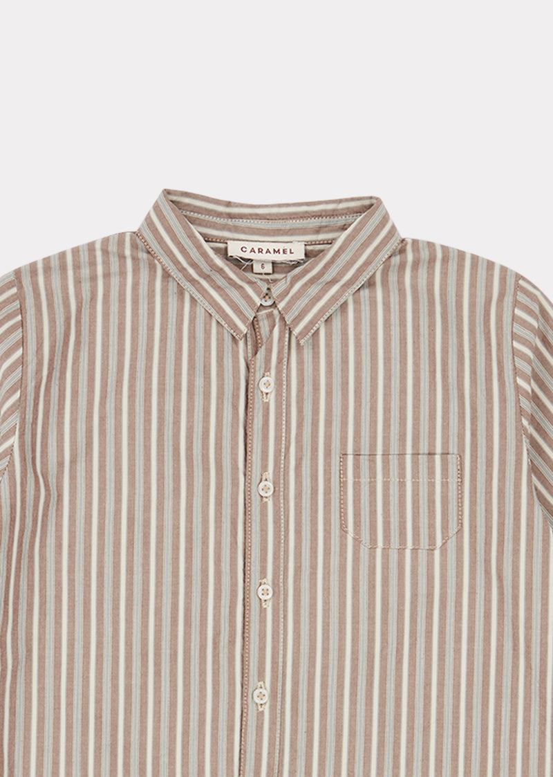 Boys Brown Stripe Stint Shirt