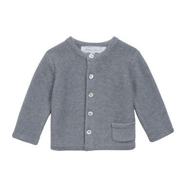 Baby Grey Knitted Cardigan With One Pockets - CÉMAROSE | Children's Fashion Store