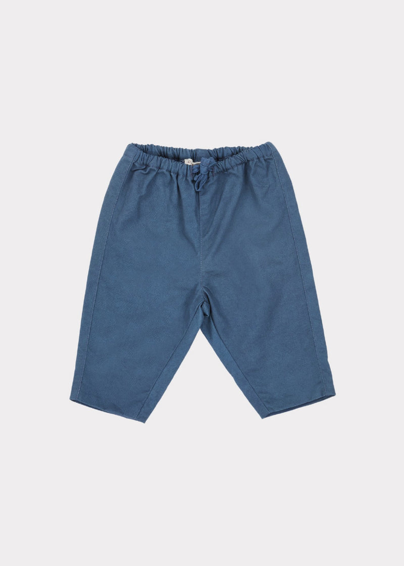 Baby Boys Airforce Blue Vulture Trousers