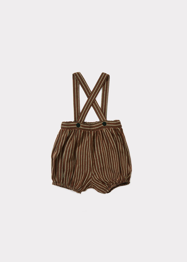 Baby Brown & Green Striped Romper