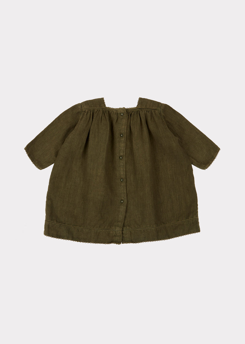 Baby Girls Dark Green Dress