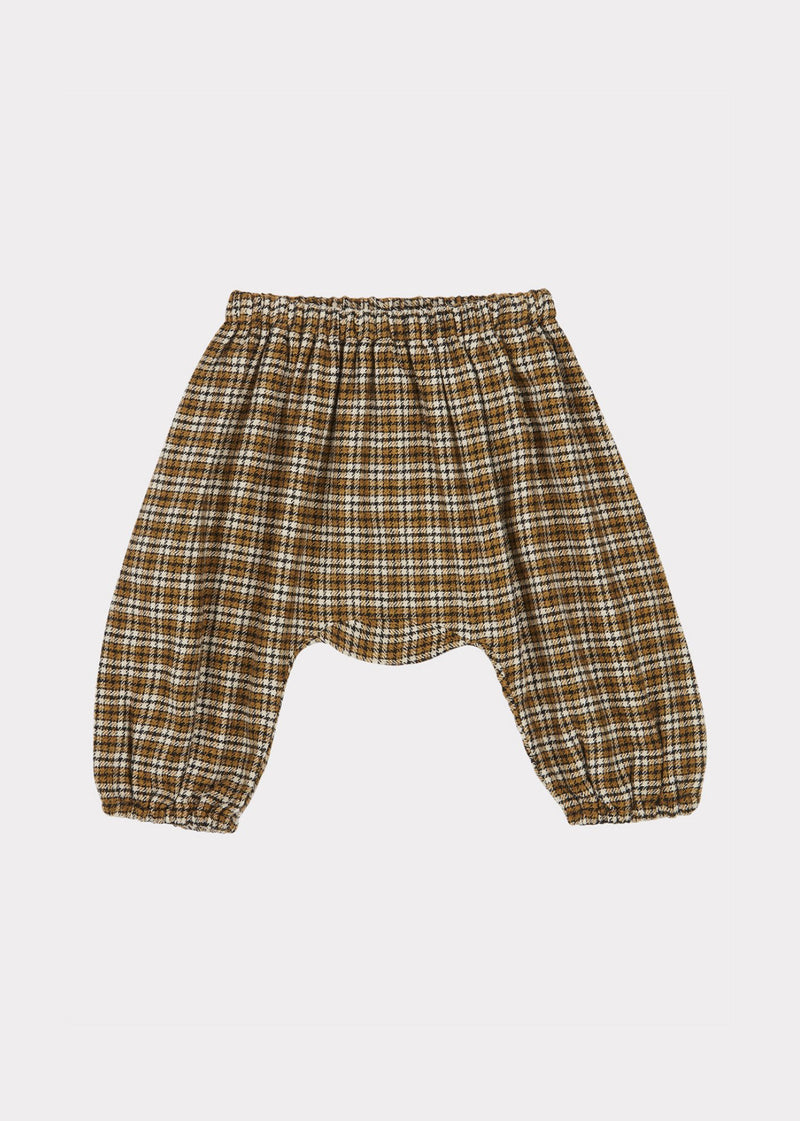 Baby Girls Yellow Check Woodpigoen Trousers