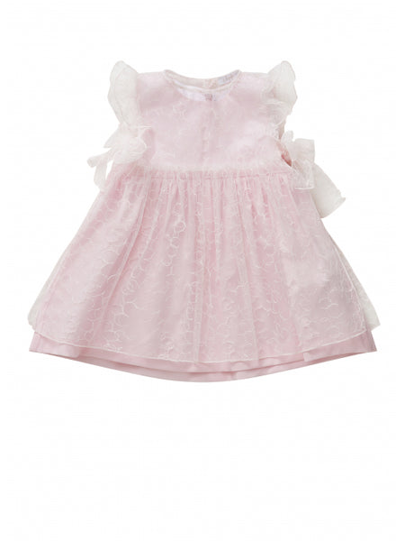 Baby Girls Pearl Pink Cotton Dress