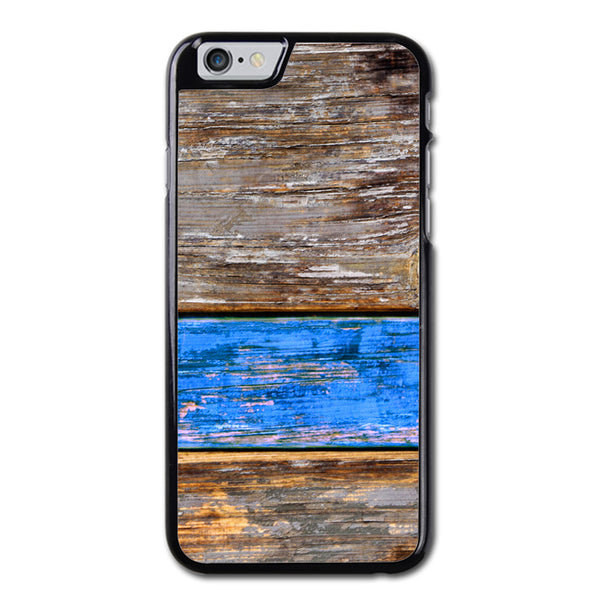 Blue Wood Pattern Design iPhone 6 Case