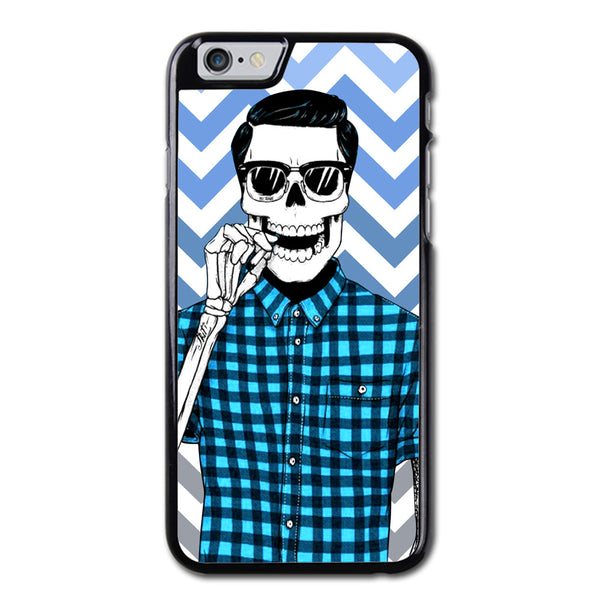 Skull Boy With Blue Chevron iPhone 6 Case