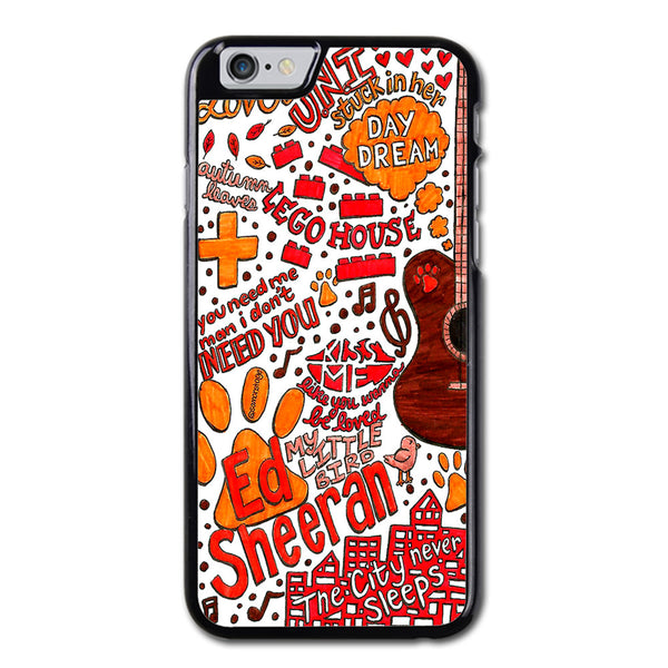 Ed Sheeran Collage Art iPhone 6 Case