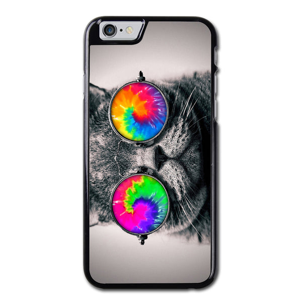 Cat With Tie Dye Glasses iPhone 6 Case
