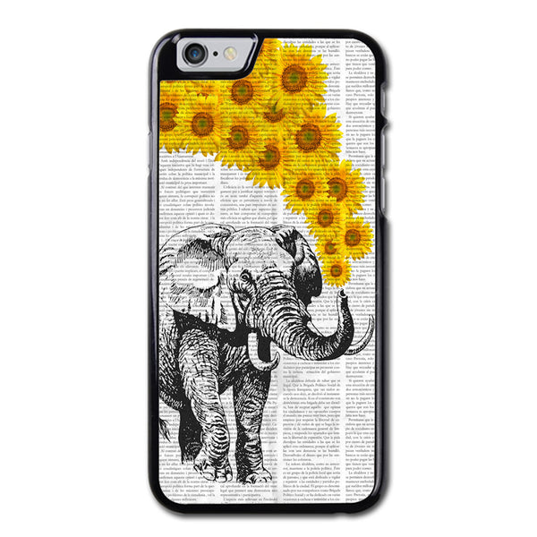 Elephant With Sun Flowers iPhone 6 Case