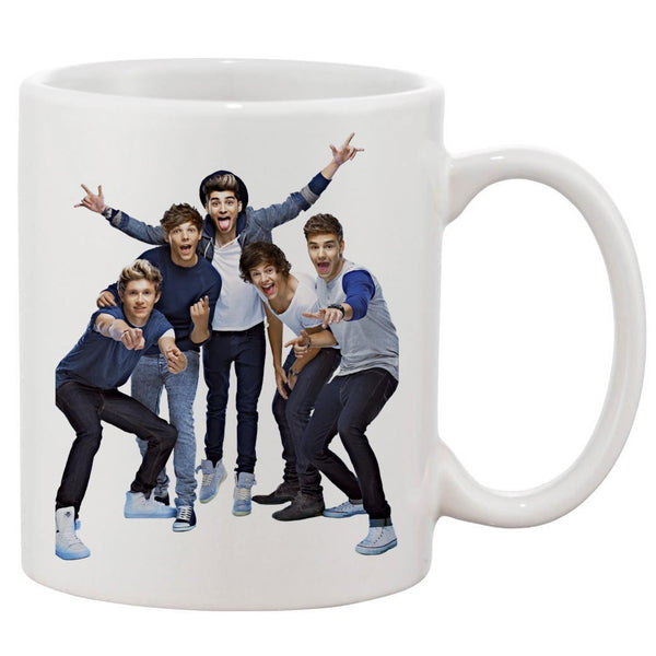One Direction Cover Smile White 11 oz. Printing Ceramic Coffee Mug