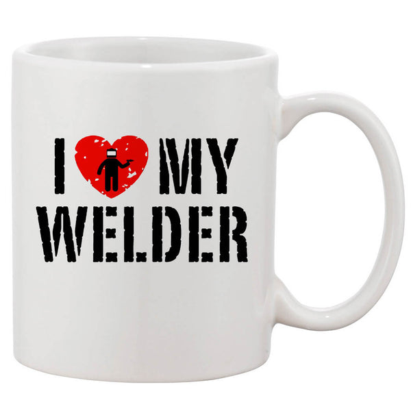 I Heart My Welder White 11 oz. Printing Ceramic Coffee Mug