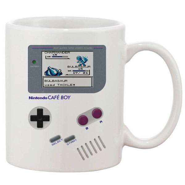 Nintendo Cafe Boy Bulbasaur White 11 oz. Printing Ceramic Coffee Mug