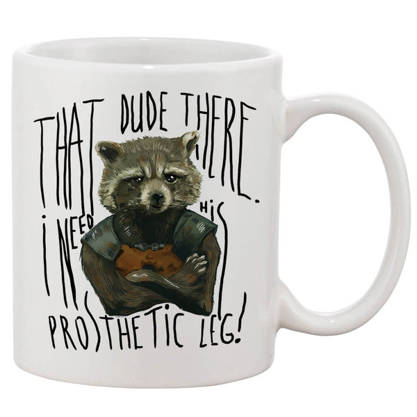 Rocket Raccoon Quotes White 11 oz. Printing Ceramic Coffee Mug