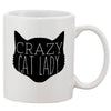 Crazy Cat Lady White 11 oz. Printing Ceramic Coffee Mug