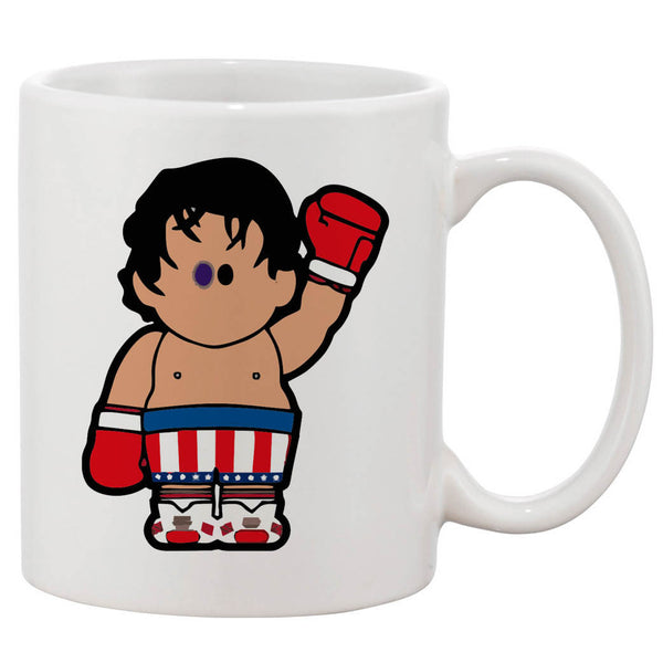 Rocky Balboa Cartoon White 11 oz. Printing Ceramic Coffee Mug