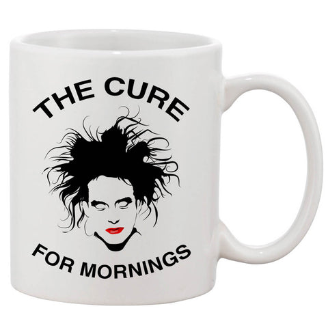 Robert Smith The Cure For Mornings White 11 oz. Printing Ceramic Coffee Mug