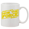 The Force Works White 11 oz. Printing Ceramic Coffee Mug
