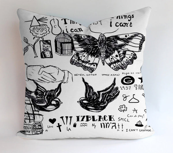 Harry Style Tattos Pillowcases Pillow Cases Covers Square Design Home Decoration
