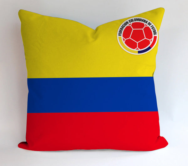 Colombia Flag World Cup 2014 Pillowcases Pillow Cases Covers Square Design Home Decoration