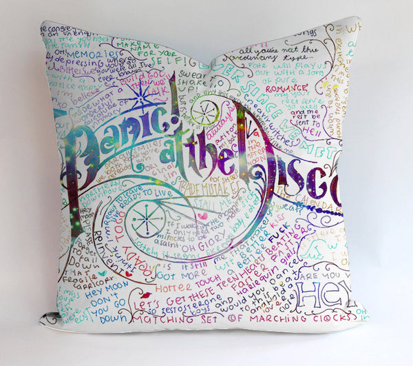 Panic At The Disco Lyric Pillowcases Pillow Cases Covers Square Design Home Decoration