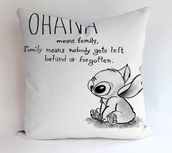 Ohana Mean Family Pillow Cases Covers Design Home Decoration