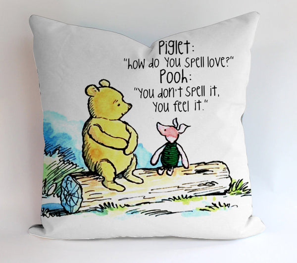 Pooh And Piglet Quote Pillow Cases Covers Design Home Decoration