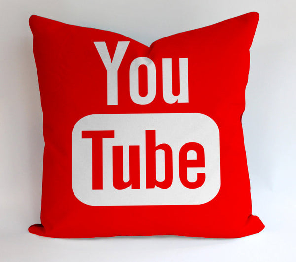 Youtube Pillow Logo Pillow Cases Covers Design Home Decoration