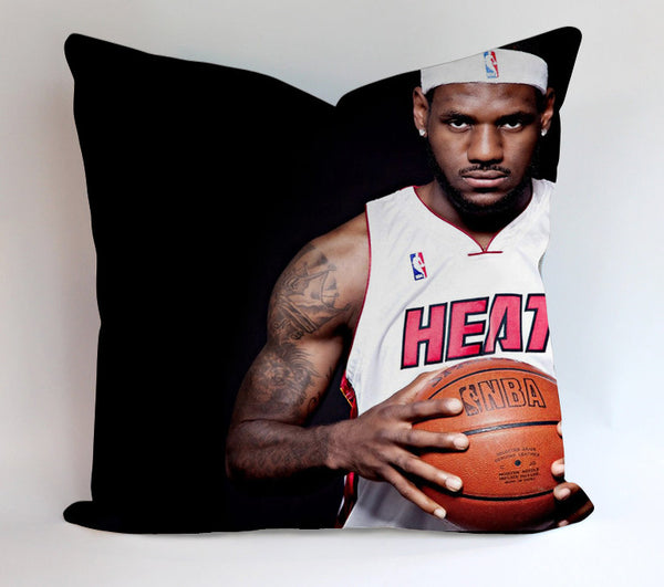 LeBron James 6 Heat Pillowcases Pillow Cases Covers Square Design Home Decoration
