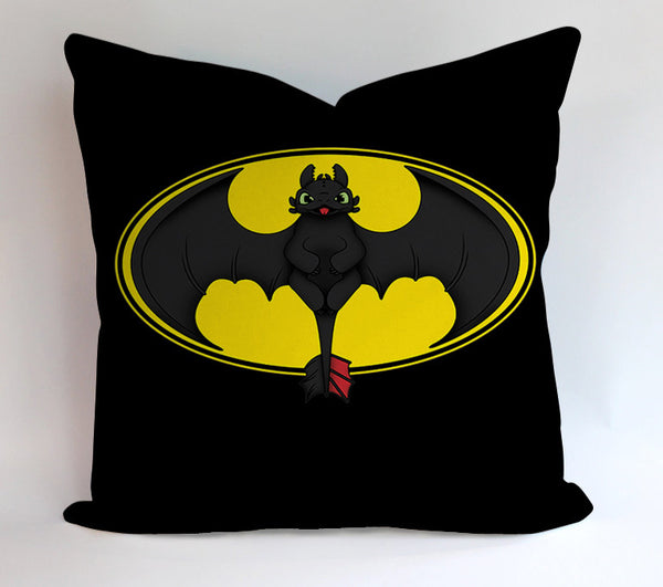 Toothless Batman 9GAG Pillowcases Pillow Cases Covers Square Design Home Decoration