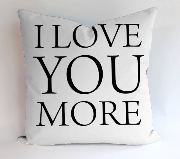 I Love You More Pillowcases Pillow Cases Covers Square Design Home Decoration