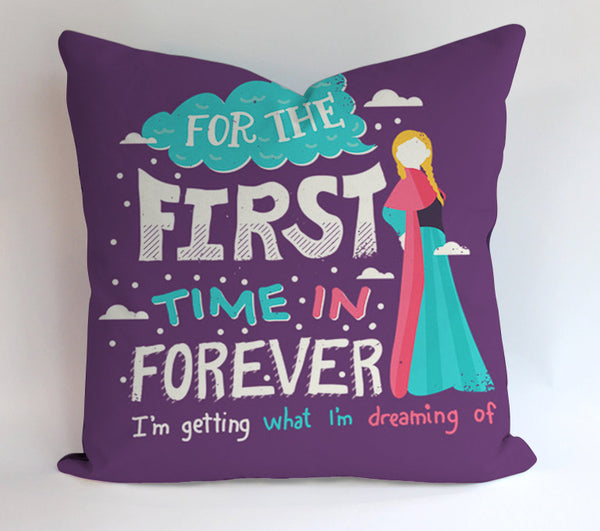 For The Forst Time Frozen Pillowcases Pillow Cases Covers Square Design Home Decoration