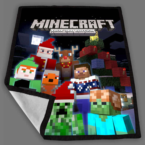 Minecraft Christmass Fleece Blanket Design Bedding Quilt Throw Blankets