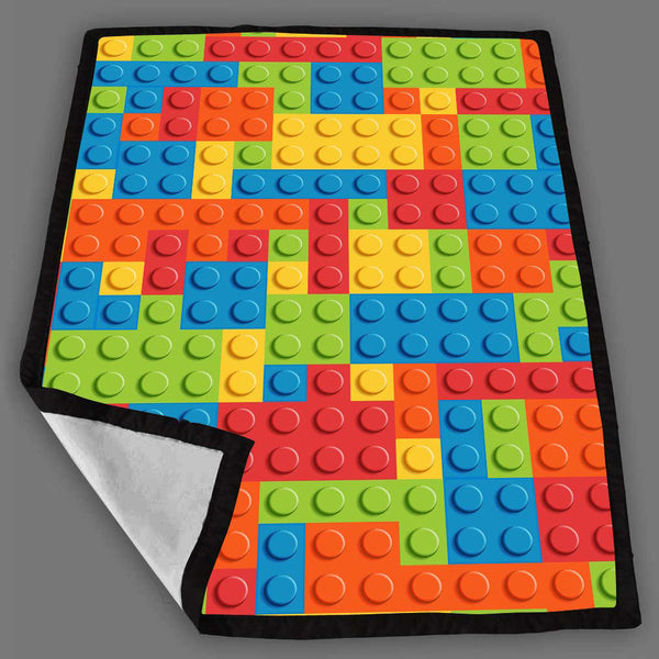 Lego Brick Pattern Blanket Fleece Design Bedding Quilt Throw Blankets