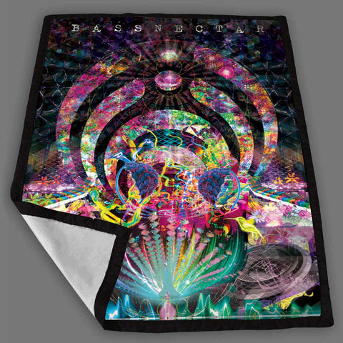 Bassnectar Design Blanket Fleece Design Bedding Quilt Throw Blankets
