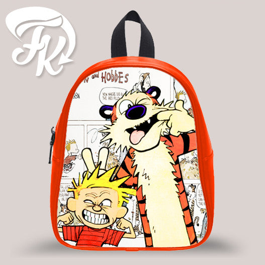 Calvin And Hobb Funny Face Kid School Bag Backpacks for Child