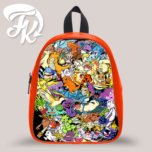 Pokemon And All Friends Kid School Bag Backpacks for Child