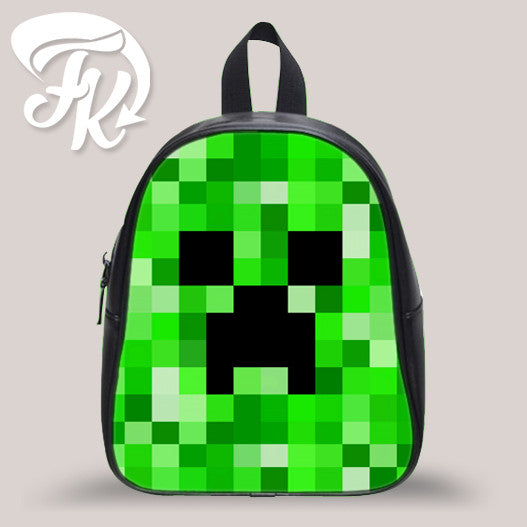Minecraft Pattern Kid School Bag Backpacks for Child