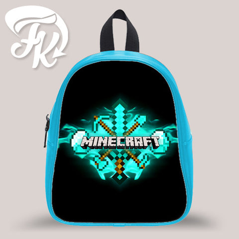 Minecraft Diamond Kid School Bag Backpacks for Child