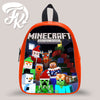 Minecraft Christmass Kid School Bag Backpacks for Child