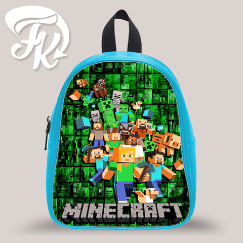 Minecraft Family Design Kid School Bag Backpacks for Child