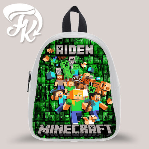 Personalizad Minecraft Family Design Kid School Bag Backpacks for Child