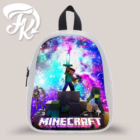 Minecraft Game Galaxy Kid School Bag Backpacks for Child