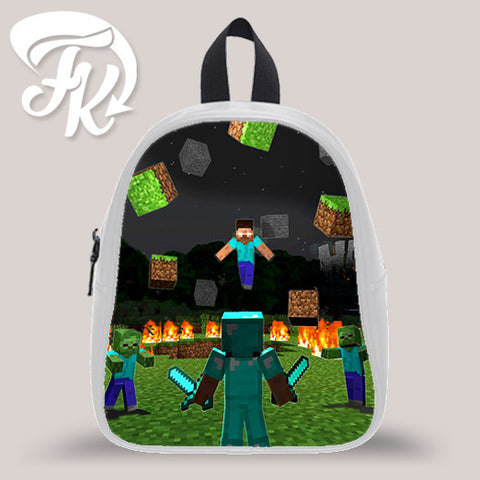 Minecraft Herobrine Kid School Bag Backpacks for Child