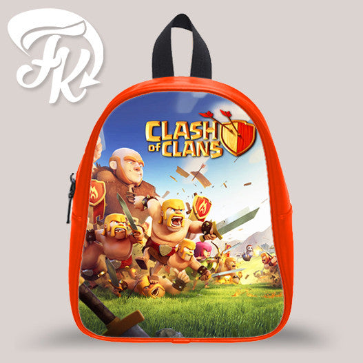 Clash Of Clan War Kid School Bag Backpacks for Child