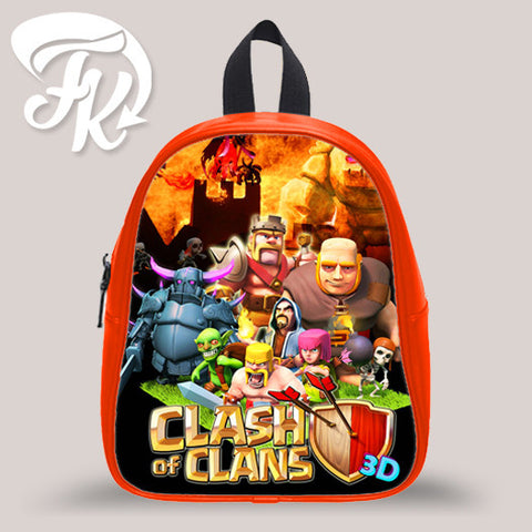 Clash Of Clan 3D Kid School Bag Backpacks for Child