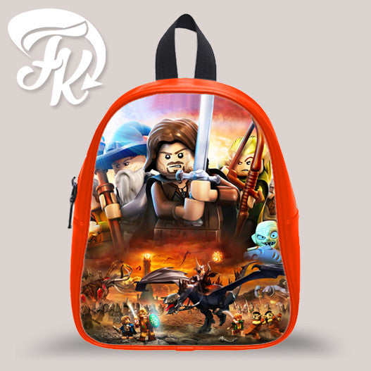 Lord Of The Rings Lego Kid School Bag Backpacks for Child