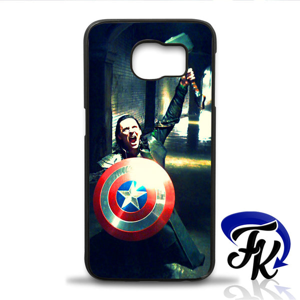 Thor Shield Of Captain America Loki Phonecase, Case, Cover Plastic and Rubber for Samsung iPhone and iPod Case