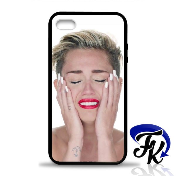 Miley Cyrus Sad Phonecase, Case, Cover Plastic and Rubber for Samsung Galaxy Cases, iPhone Cases, iPod Cases