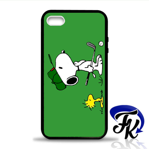 Snoopy Playing Golf Phonecase, Case, Cover Plastic and Rubber for Samsung Galaxy Cases, iPhone Cases, iPod Cases