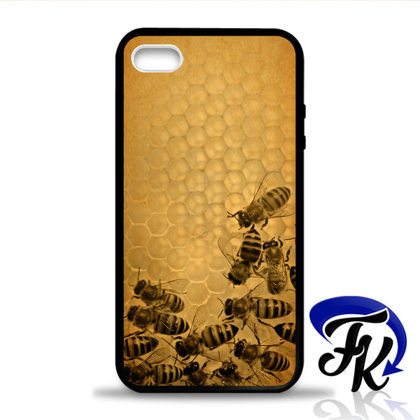 Vintage Hooneycomb Bee Phonecase, Case, Cover Plastic and Rubber for Samsung Galaxy Cases, iPhone Cases, iPod Cases
