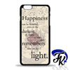 Harry Potter Happiness Quote Phonecase, Case, Cover Plastic and Rubber for Samsung Galaxy Cases, iPhone Cases, iPod Cases